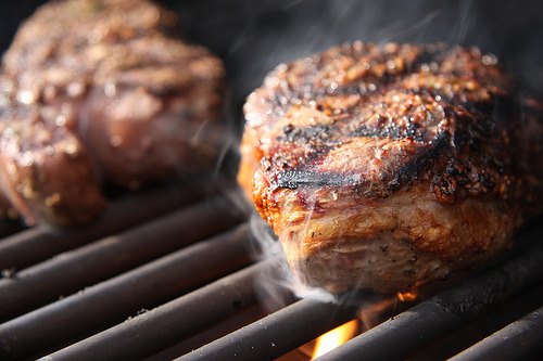 wordlessmagazine:  Sizzling Filets (by Another Pint Please…)