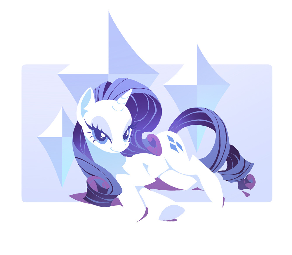 keinzantezuken:  Rarity by maru on pixiv  MARU? Damn, that cat's got talent. o3o
