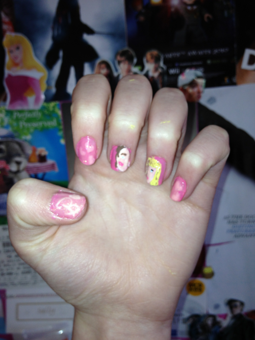 Barbie and Ken nails :)