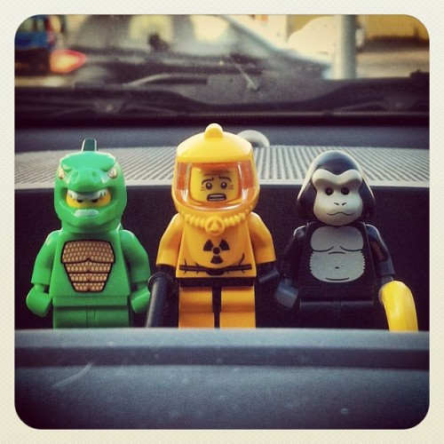 New #friends in my #car #lego #minifigures (Scattata con Instagram presso Expo Faenza)