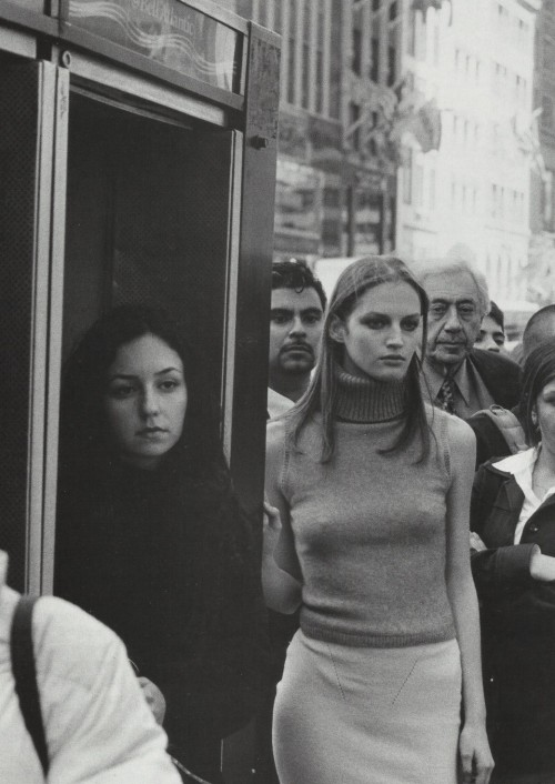 petrole:  new york streets, vivien solari by peter lindbergh, 1999