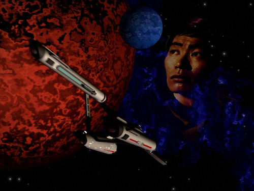 """Standard Orbit Mr Sulu"" on Flickr.This is a re-imaging of a piece I did a while back. It's called ""Standard Orbit Mr. Sulu"". I redid this because I felt it needed to be given a second chance."