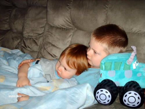 I miss when they were smaller. Can't believe they're going to be 5 and 8 this year. Where the hell does the time go?
