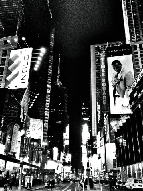 Places I've only walked through once on my own volition — Times Square.