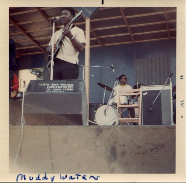 milkshake-n-honey:  Muddy Waters live at Ann Arbor Blues Festival 1969 photo by Bob Frank