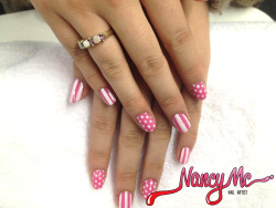 Taytay's simple candy stripes + polka dots