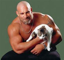 bill goldberg with cat #catsofwrestling