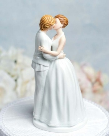 gaywrites:  Did you know there's a whole slew of same-sex couple wedding cake toppers out there? I found a couple of cool ones here.