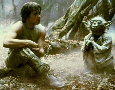 yomallory:  Luke: I don't believe it.  Yoda: That is why you fail.