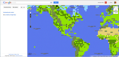 Sweet! Google maps in 8bit! http://maps.google.nl/ Het is een ontdekkingstocht overigens!  - Posted using Mobypicture.com