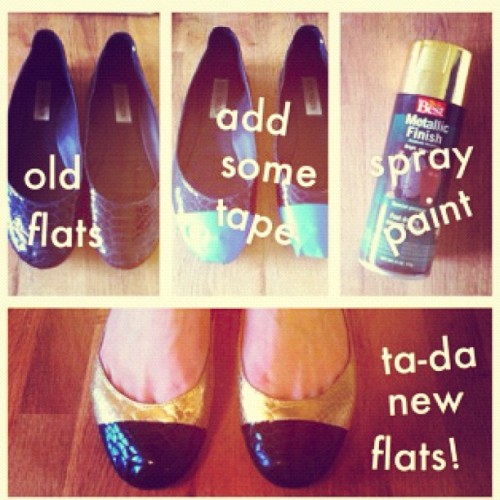 My weekend project: #DIY #shoes #flats #captoe #howto (Taken with instagram)