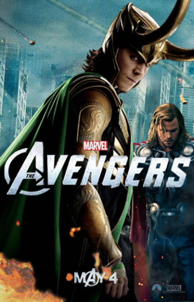 The Avengers doesn't have a Loki poster,so I made one myself.