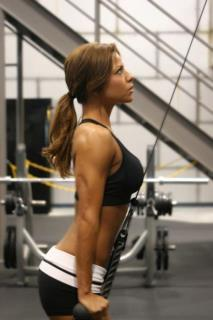 mmmm fit n focused female athlete