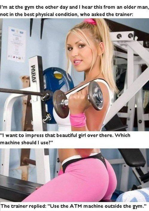 haha nice response from a gym trainer