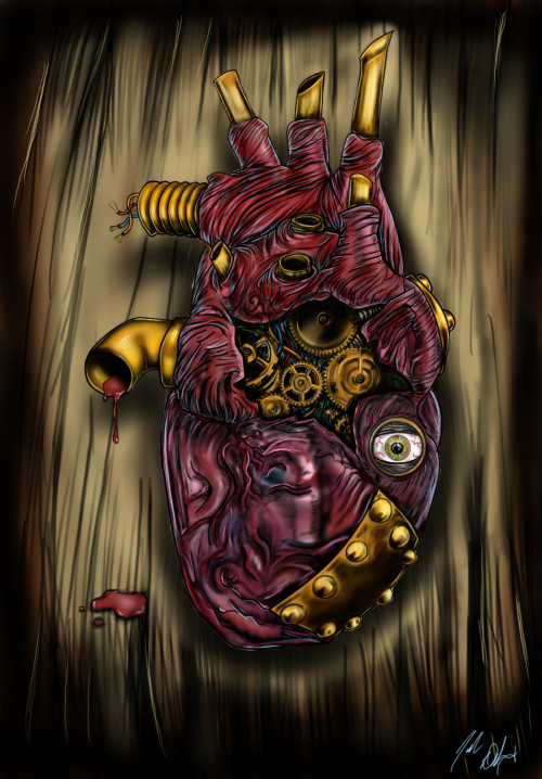 Steampunk Heart by ~VinehillGraphix
