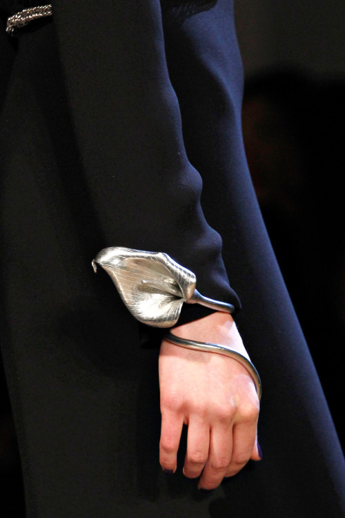 dixias:  Detail at Yves Saint Laurent Fall 2012