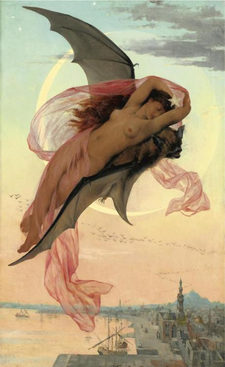 bleedingbetty1960:  moonlit dreams by gabriel ferrier, 1900