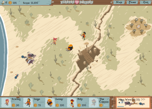 Tower defense style browser game with a pirates theme.