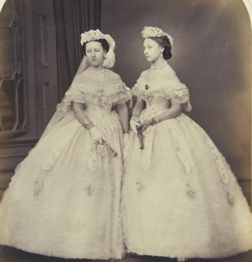 Princesses Helena and Louise, daughters of Queen Victoria.