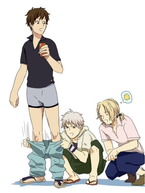 tragedysorbet:  … how can Gilbird be in Gil's buttpocket? Those pants look much too tight for that to be comfortable.