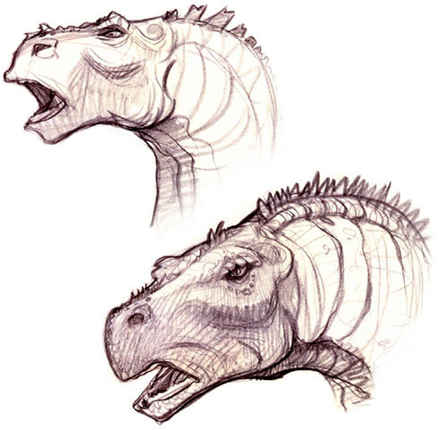 wannabeanimator:  disney-concept-art:  Dinosaur  That's something I never see concept art for.