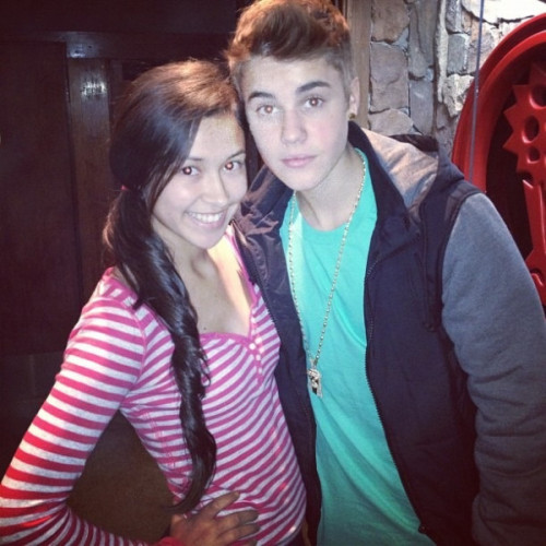 Justin with a fan today