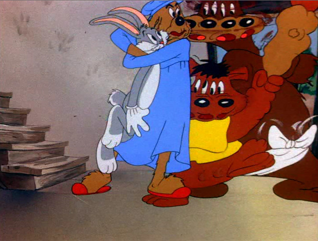 animationsmears:  Ben Washam animation. Bugs Bunny and the Three Bears