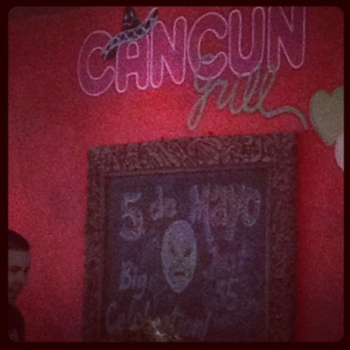 5 de Monica is 35 days away! Woohoo!! (Taken with Instagram at Cancun Grill)