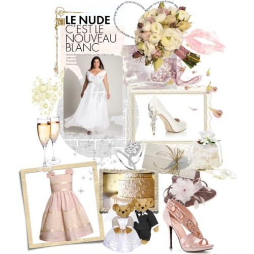 WEAR IT WELL WEDDING by patty-hughes featuring platform sandals  CurvyDolls ,    Soft pink & white make for a perfectly CURVYSTYLE day!  Xxoo,   PattyOnSite
