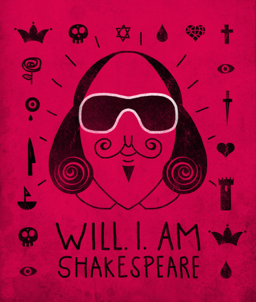 urhajos:  'Will.I.Am Shakespeare' by Farnell Get the print at Society 6