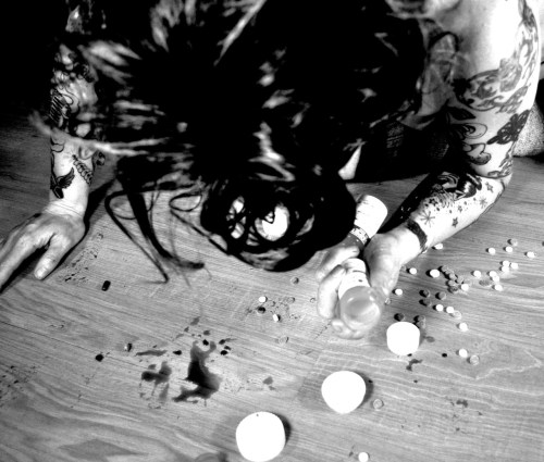 Here's an oldie from Misfit Photos..  Pill popping suicide.