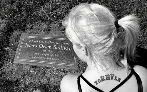 I want to visit his grave before I die. I know it will be one of the most emotional events in my life, but I need to do it. I never got to see him shine when he was with us and I know this is the only way I can thank him for everything he's done for me.