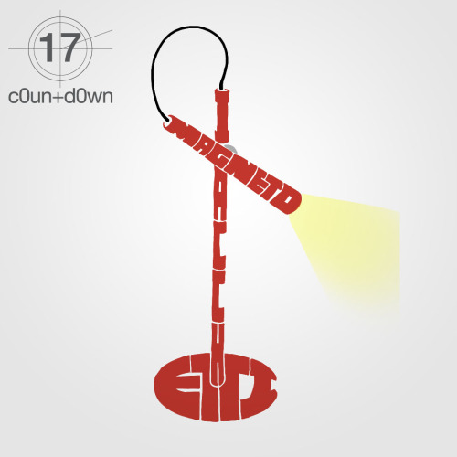 #c0un+d0wn -17 for milan 2012 magneto lamp design by giulio iacchetti for foscarini