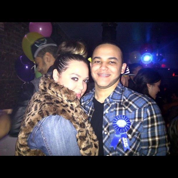 #NoFilter.. The bday boy Reggie & I last night 💙😘🎉🎈 (Taken with instagram)