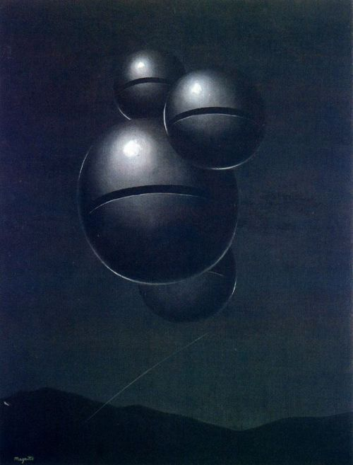 xo-skeleton:   The Voice of Space, 1928, René Magritte  I once saw this painting in person, and it still haunts me as one of the most beautiful things.