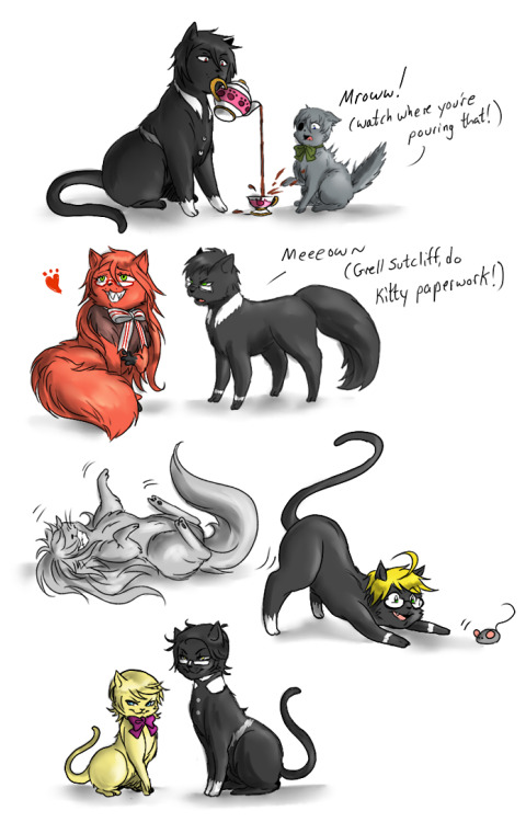 madelezabeth:  Damn it, I wasn't fooling anyone >_> Everyone is cats and I'm not sorry.