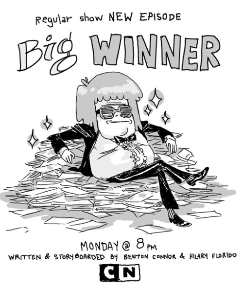 "New Regular Show episode ""Big Winner"" tomorrow!"