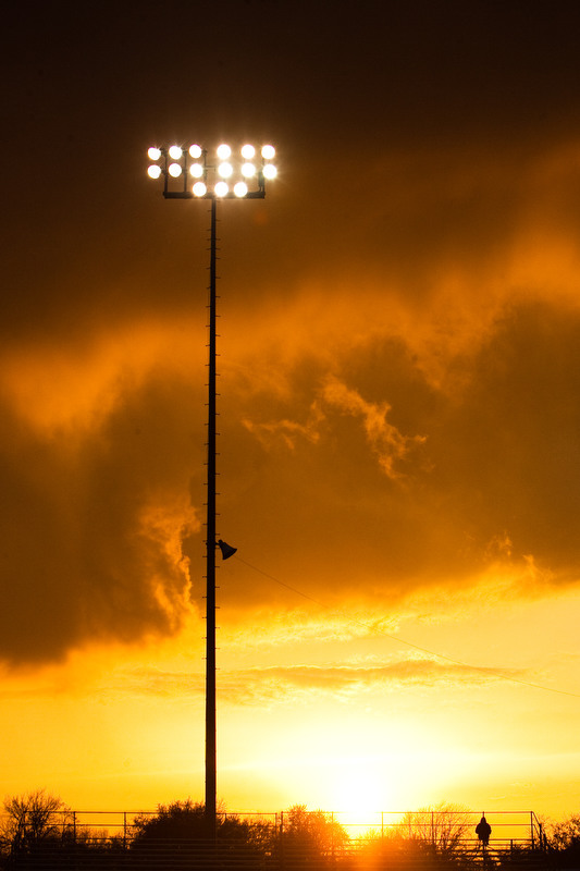 netnewsnebraska:  Field lights in Grand Island, Nebraska