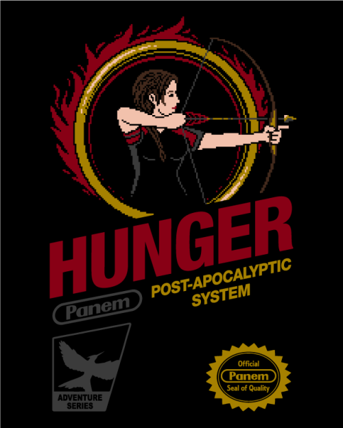 "gamefreaksnz:  drewpixel:  ""HUNGER RETRO GAME"" Pick up a high quality t-shirt/hoodie version here!  USD$28.21"