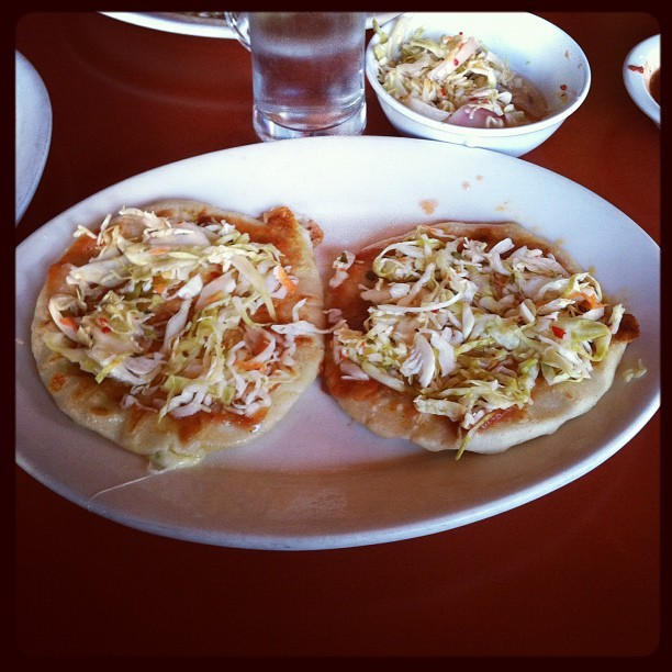 The now: pupusas at Balompie! Guh. (Taken with instagram)
