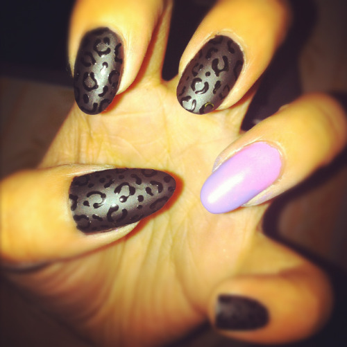 Matte Leopard and ombre.
