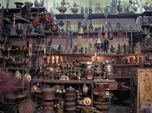 An antiques shop in Little India, Singapore