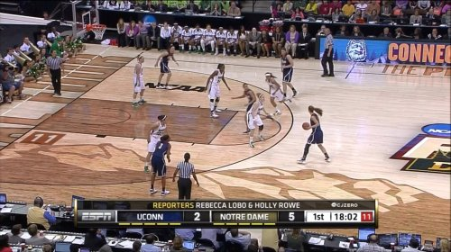Awesome court design for the Women's Final Four. (Screen-grab by @cjzero)