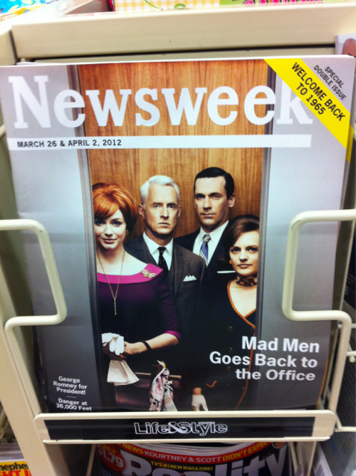 "Completely retro issue of Newsweek for season five of ""Mad Men""."