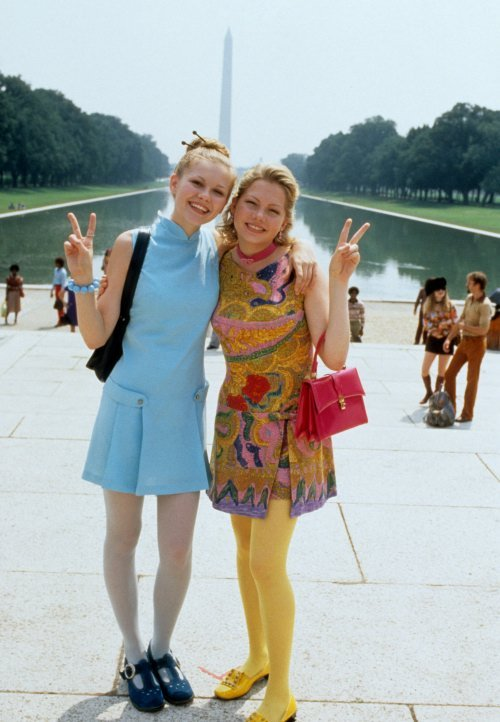 "Michelle Williams and Kirsten Dunst in vintage for 1999's ""Dick"". So cute."