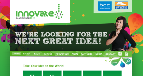 One month to go to get your ideas into the 2012 Innovate! Manawatu comp. Some cool prizes up for grabs! Entries close 30 April 2012. Details here.