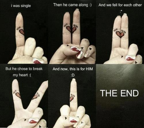 baaazingaaaa . story of my life , on fingers .