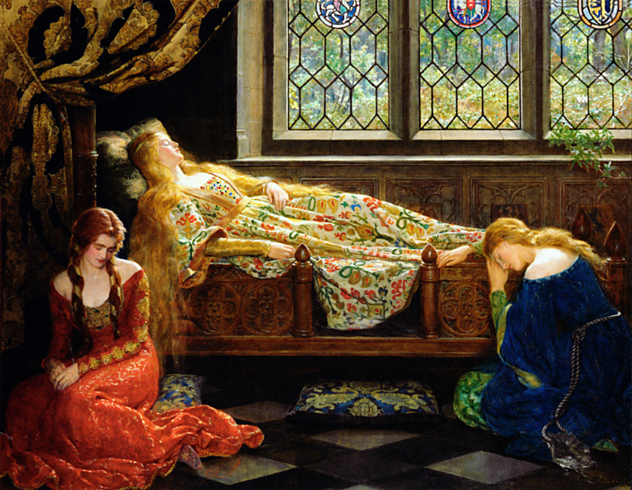 artaddictsanonymous:  John Collier, The Sleeping Beauty, 1901