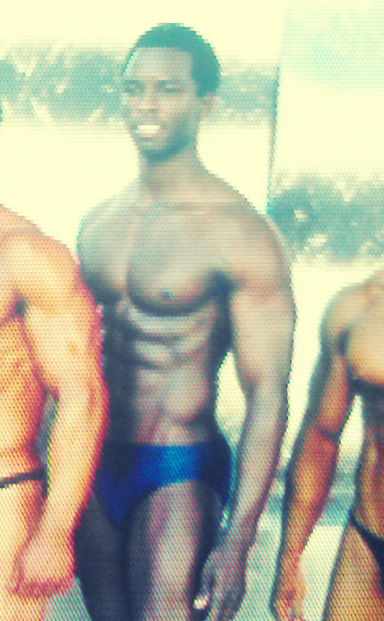 "pic from my bodybuilding show several months back. we first had a photo shoot outside. it was crazy. cars honking as they drove by, women screaming and hollering. fun experience. i weighed 176lbs back then. now i'm up to 190. not sure when or if i'll compete again. but until i decide, i'm staying in ""good enough"" shape so that i'm always within range of whatever choose to do"