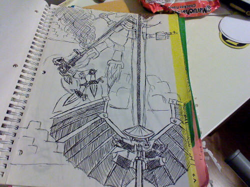 robots from the wolfgirl notebook ye